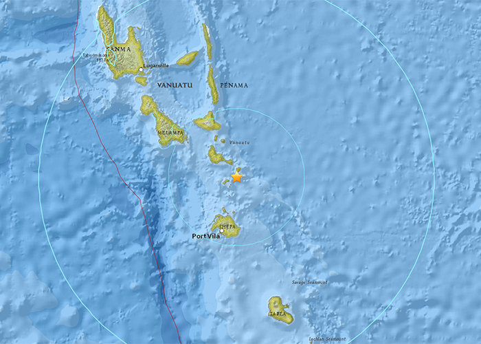 Significant Earthquakes in Port Vila Region