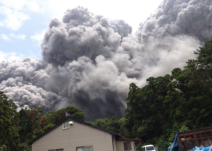Japanese Volcano Mount Shindake Erupts
