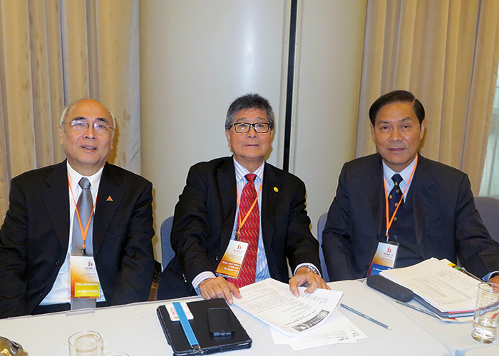 CFPA-Asia executive members left to right Peter Petrus Indonesia, Steven Ooi Malaysia, Joe J K Kwok China/HongKong.
