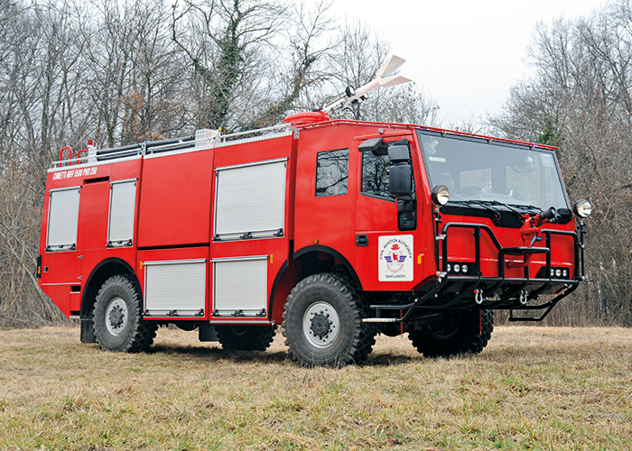 The Civil Aviation Authority of Bangladesh have received this Chinetti Fire Falco 4x4 ARFF 5500 airport crash tender.