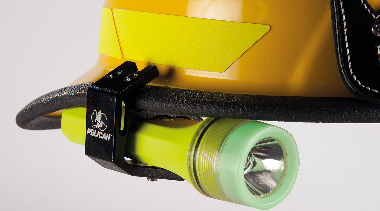 Pelican's latest safety-approved lighting tool, the 3325 helmet light
