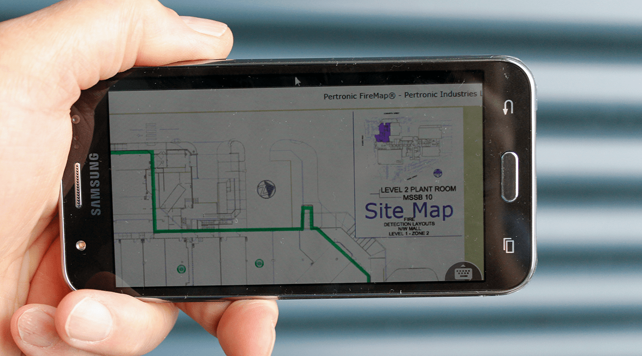 TeamViewer allows remote control and monitoring of fire graphics systems such as Pertronic FireMap.