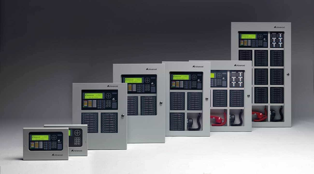 The Axis AX fire panel range from Advanced.