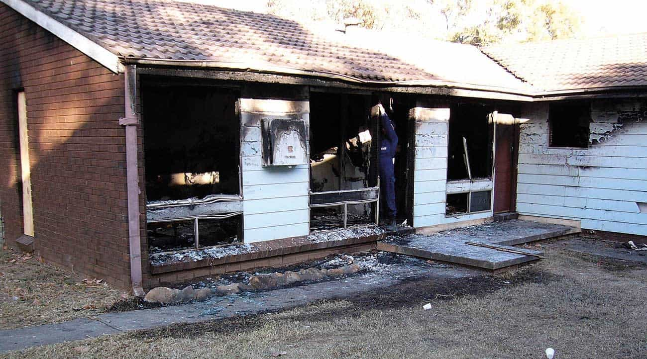 Burn patterns and damage indicators can lead to a fire's origin.