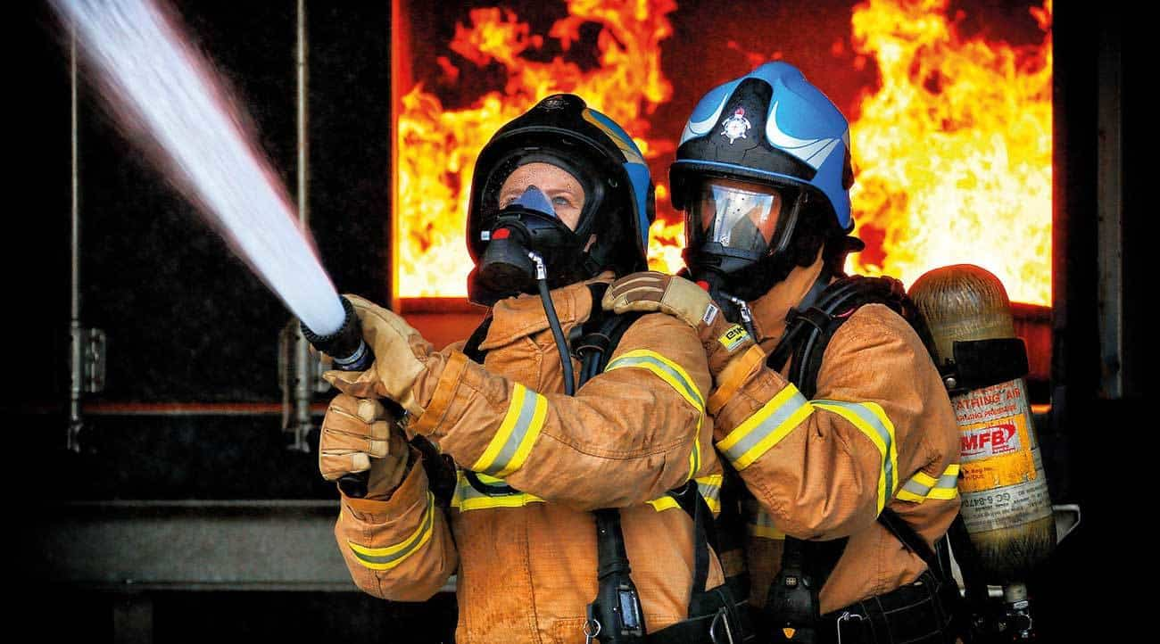 MFB firefighters hone their skills in VEMTC Craigieburn's hot fire training facilities, which provide realistic operational situations utilising fire, smoke, sound, heat and lighting.