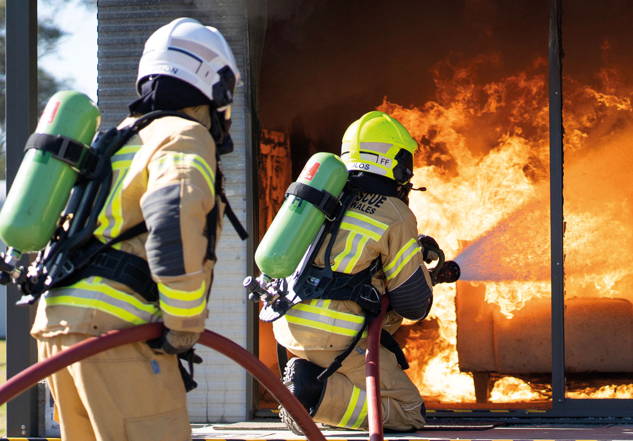 GORE® PARALLON® System in action with FRNSW firefighters.