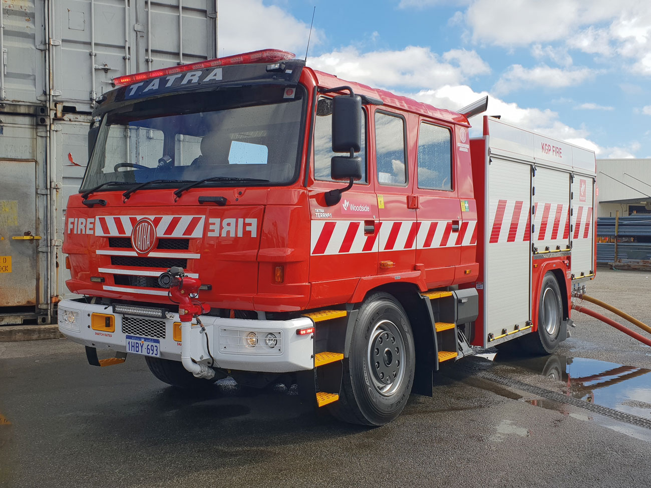 OTA's recent 4x4 fire appliance delivery to Woodside.