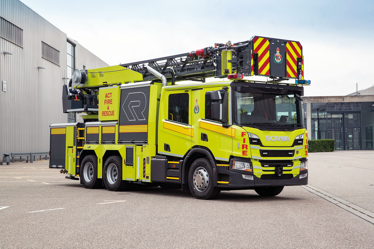 The innovative Rosenbauer 'CAPA' (L24C-FA) of ACT Fire and Rescue.