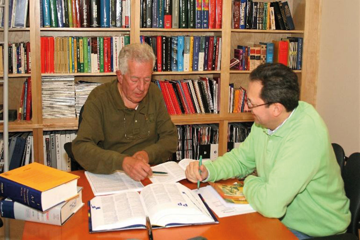 Working with his son Jaime A. Moncada, co-editing NFPA's Fire Protection Handbook in Spanish.