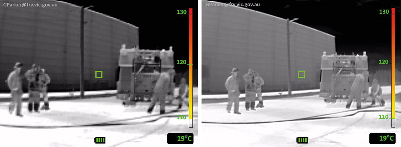 The image below left is from a 160x120 sensor with horizontal FOV of 47°; the image on the right is from a 384x288 sensor with a FOV of 57°. The difference in both the sensor resolution and the FOV is evident.
