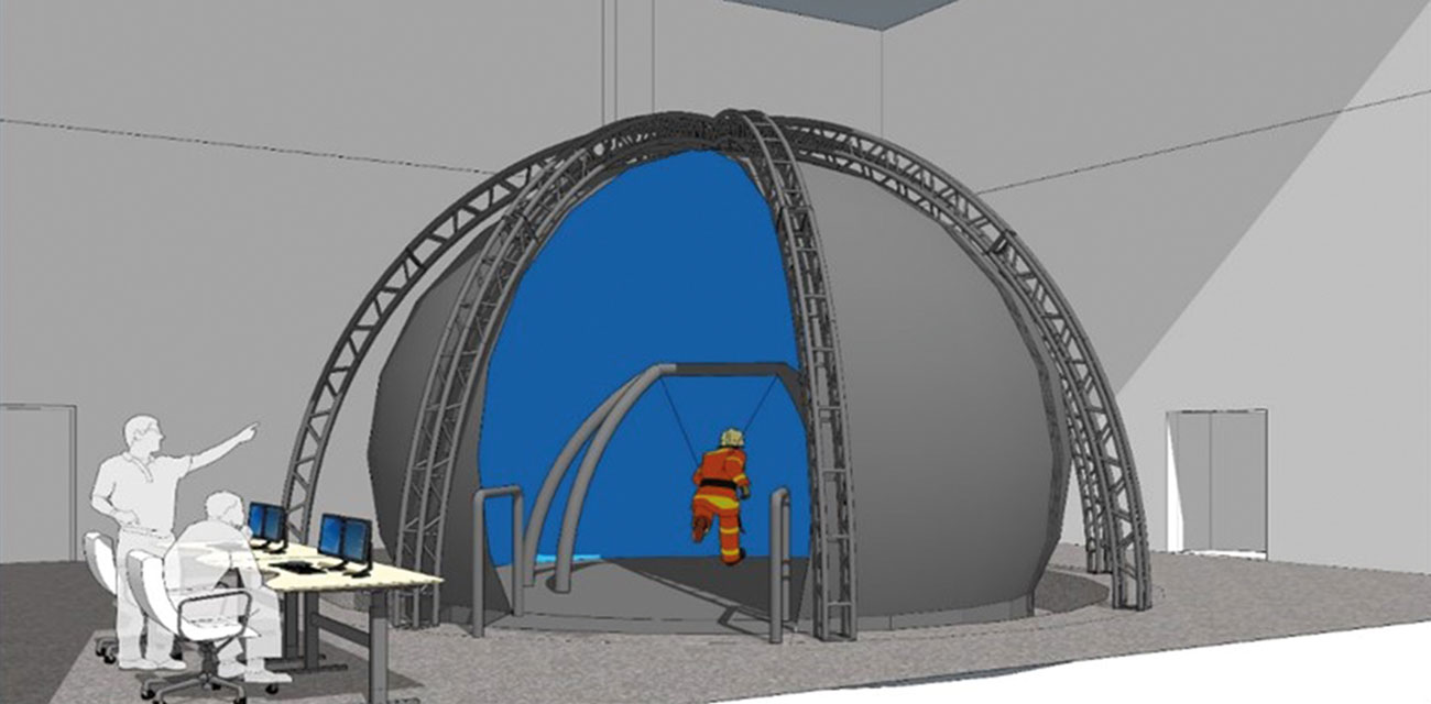 Artist's impression of the Strength & Conditioning and Rehabilitation Virtual Environment (STRiVE).