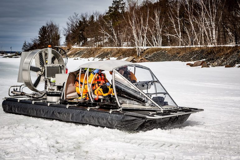 ATASD – 'Amphibious Transformer with the Air Static Discharge' is a Canadian-innovated, patented amphibious Search & Rescue vehicle. (Interconn Development Ltd)