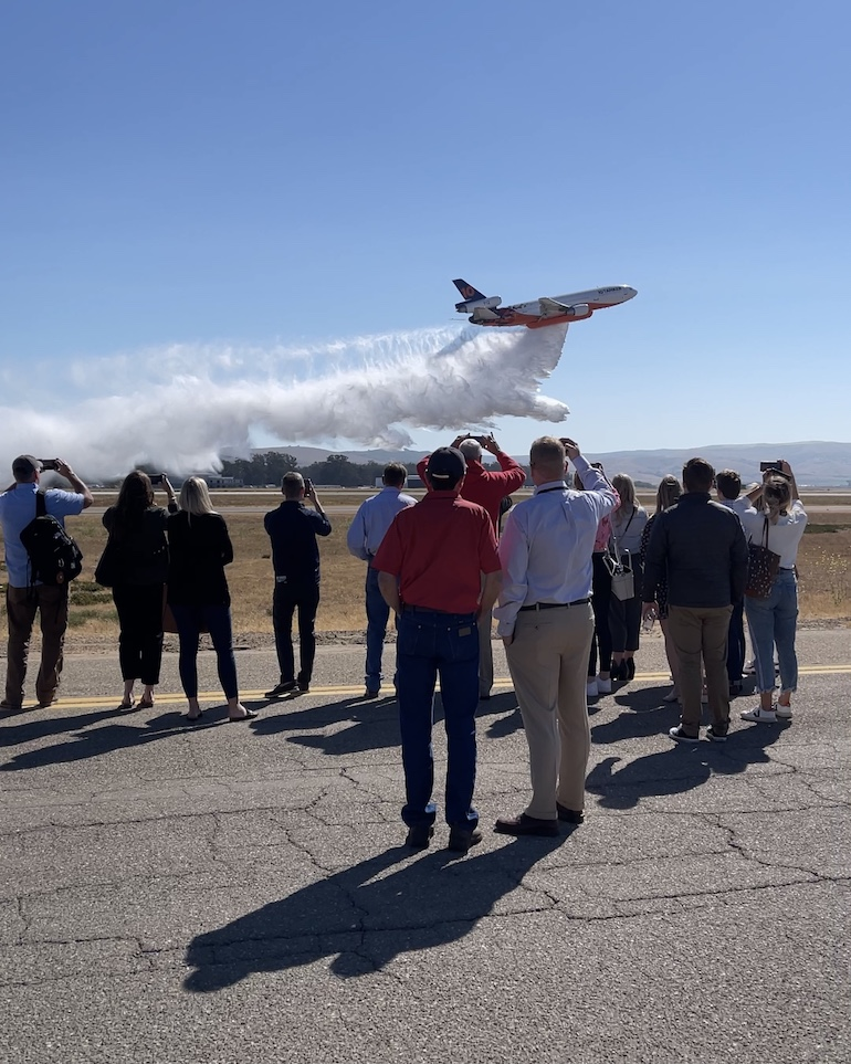 Santa Maria Central Coast Jet Center hosts firefighting aircraft and Congressional Western Caucus.