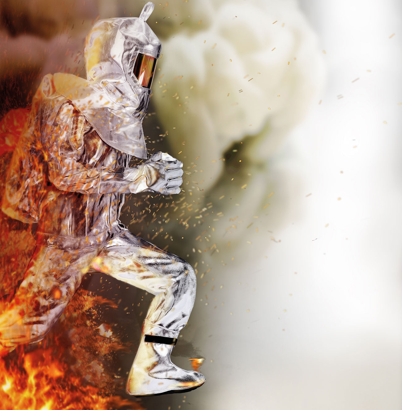 FIRESHIELD is a multi-layered fabric designed to offer high radiant heat protection without sacrificing mobility.