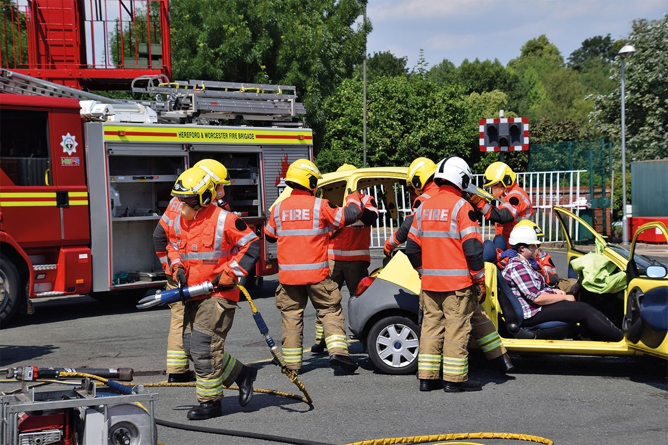 Hereford and Worcester Fire and Rescue Service.