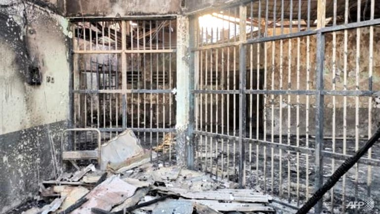 The fire at Tangerang Prison killed 41 inmates on 8 September 2021. (Photo: Handout / Indonesian Ministry of Law and Human Rights)